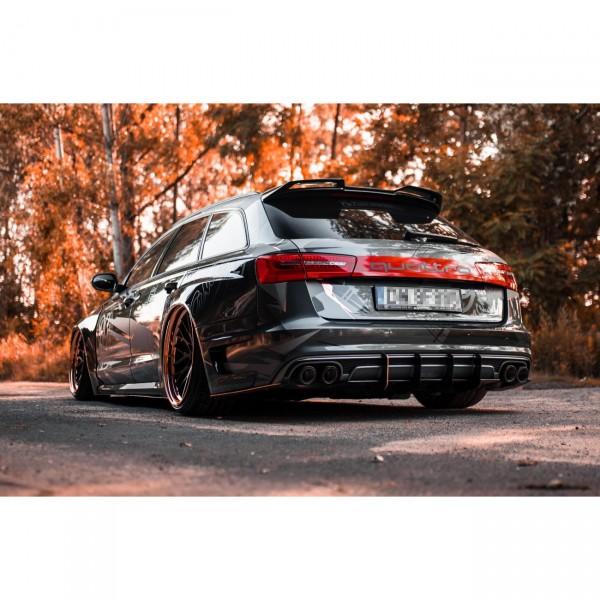 Heck Spoiler Aufsatz Abrisskante Audi A6 S6 RS6 C7 4G Avant grundiert