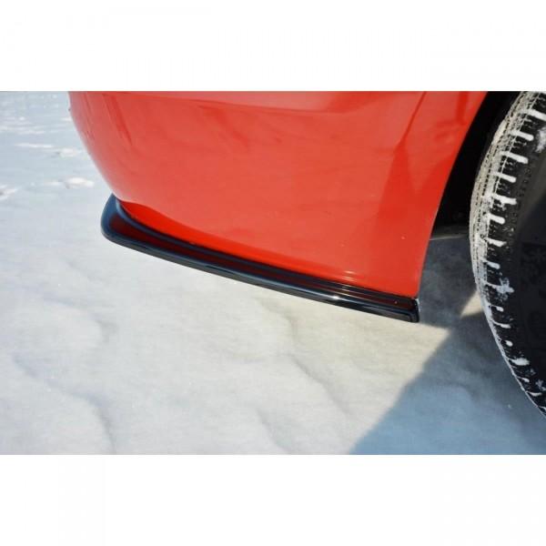Heck Ansatz Flaps Diffusor passend für BMW 3er F30 schwarz Hochglanz