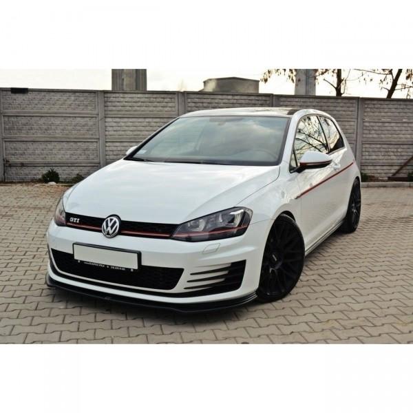 Front Ansatz passend für V.2 VW GOLF 7 GTI Carbon Look