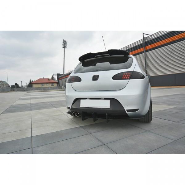Diffusor Heck Ansatz passend für Heckschürze passend für V.2 Seat Leon Mk2 Cupra/ FR