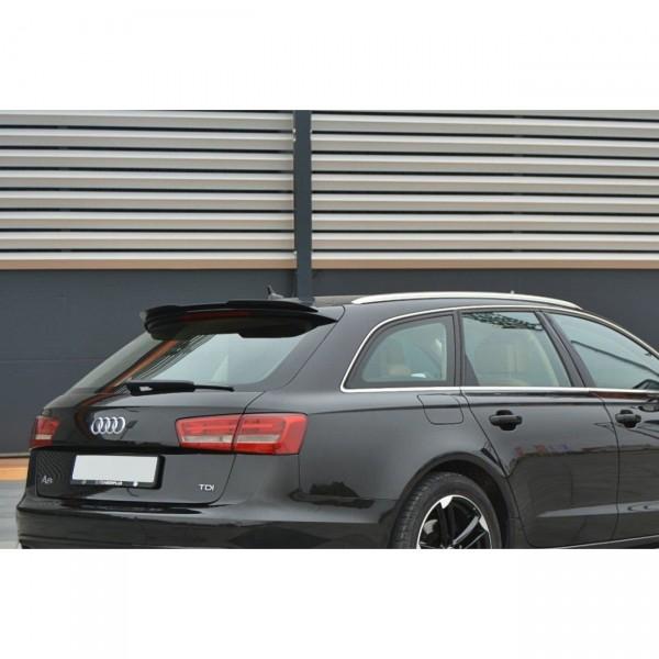 Spoiler CAP passend für Audi A6 C7 Avant schwarz Hochglanz