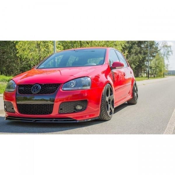 Front Ansatz passend für VW GOLF 5 GTI (FÜR GTI 30TH Frontansatz) Carbon Look