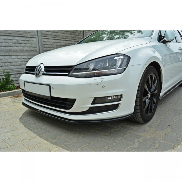 Front Ansatz passend für VW GOLF 7 schwarz Hochglanz