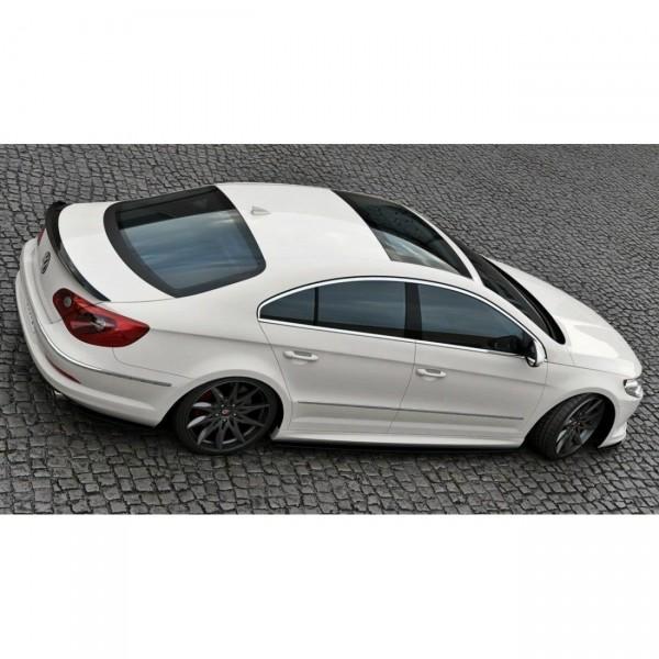 Heck Ansatz Flaps Diffusor passend für VW Passat CC R36 RLINE (vor Facelift) schwarz matt