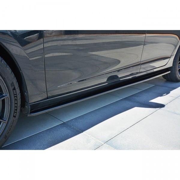 Seitenschweller Ansatz passend für Volvo V60 Polestar Facelift schwarz matt