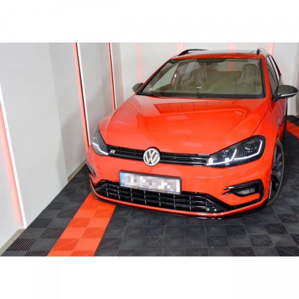 Front Ansatz passend für V.7 VW GOLF 7 R FACELIFT schwarz Hochglanz