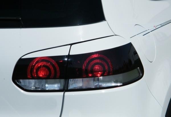Heckleuchtenblenden Satz aus ABS hochglanz schwarz VW Golf 6, Typ.1K Bj.: 2008-2013 Für alle Ausführ