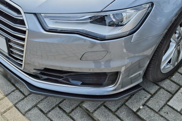 Cup Frontspoilerlippe aus ABS hochglanz schwarz Audi A6 ab Bj.: 2014- Limousine + Avant, ohne S- Lin
