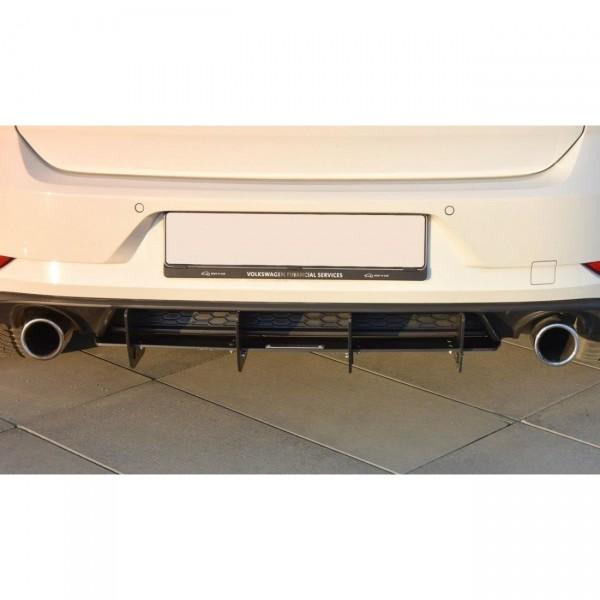 Diffusor Heck Ansatz passend für Heckschürze passend für VW GOLF 7 GTI FACELIFT