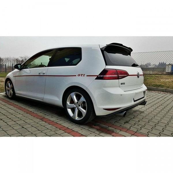 Spoiler CAP passend für VW GOLF Mk7 R/ GTI schwarz Hochglanz