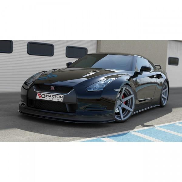 Front Ansatz passend für V.2 NISSAN GT-R vor Facelift COUPE (R35-SERIES) schwarz Hochglanz