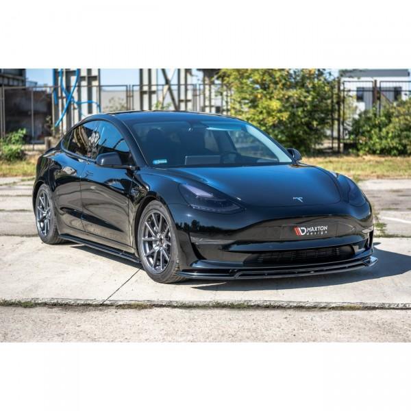 Front Ansatz passend für V.2 Tesla Model 3 Carbon Look