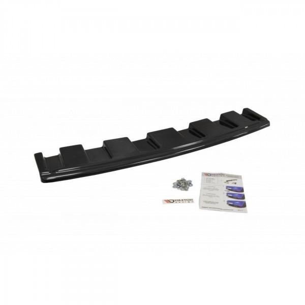 Mittlerer Diffusor Heck Ansatz passend für AUDI S6 C7 AVANT schwarz Hochglanz
