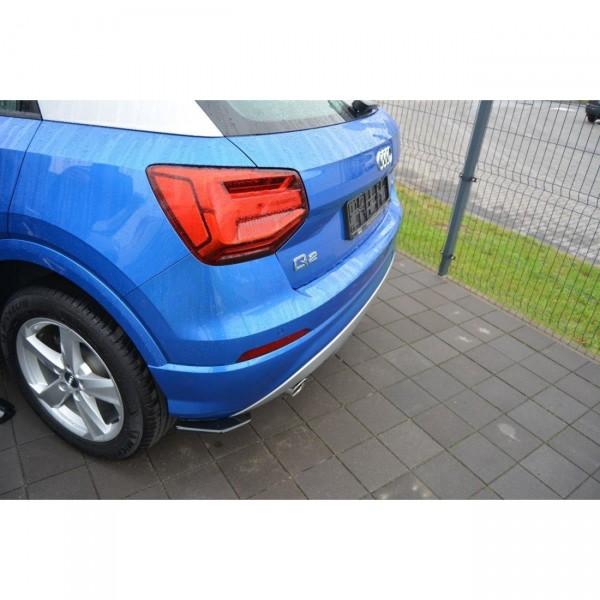 Heck Ansatz Flaps Diffusor passend für Audi Q2 Mk1 schwarz matt