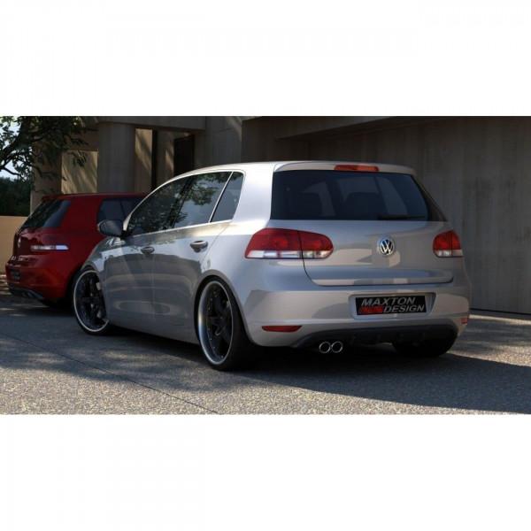 Diffusor Heck Ansatz passend für VW GOLF 6 MIT 1 AUSPUFF schwarz Hochglanz