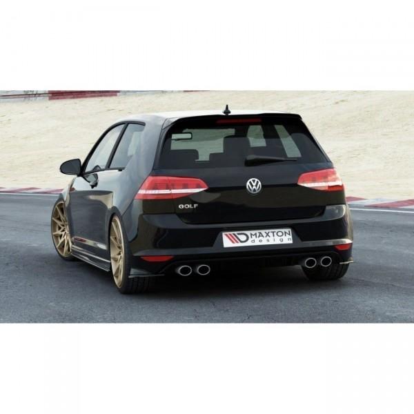 Heck Ansatz Flaps Diffusor passend für VW GOLF 7 R schwarz matt