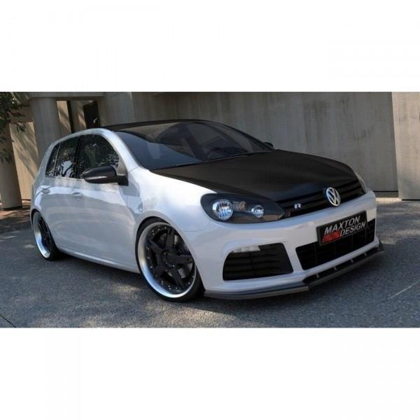 Front Ansatz passend für VW GOLF 6 R Carbon Look