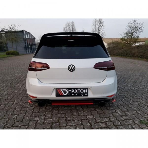 Mittlerer Diffusor Heck Ansatz passend für VW GOLF Mk7 GTI CLUBSPORT schwarz Hochglanz