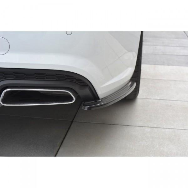 Heck Ansatz Flaps Diffusor passend für Audi A6 C7 Avant S-line/ S6 C7 Facelift schwarz matt