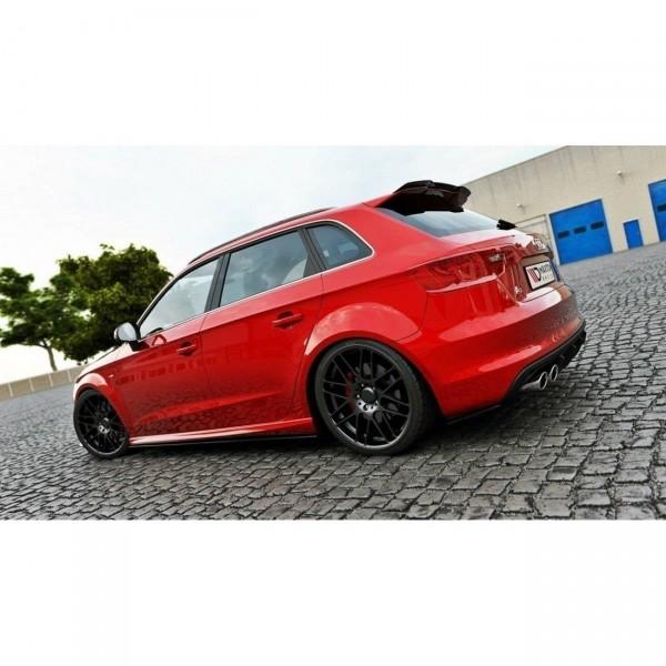 Spoiler CAP passend für Audi A3 S-Line / S3 8V Preface and Facelift schwarz Hochglanz