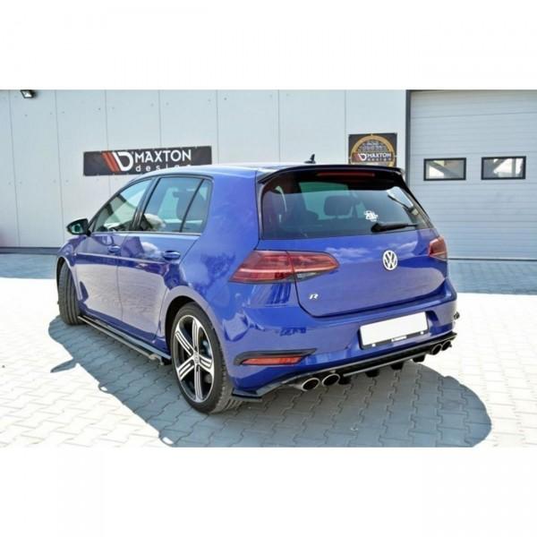 Diffusor Heck Ansatz passend für VW GOLF 7 R Facelift schwarz matt