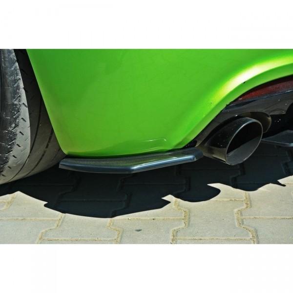 Heck Ansatz Flaps Diffusor passend für VW SCIROCCO R schwarz matt