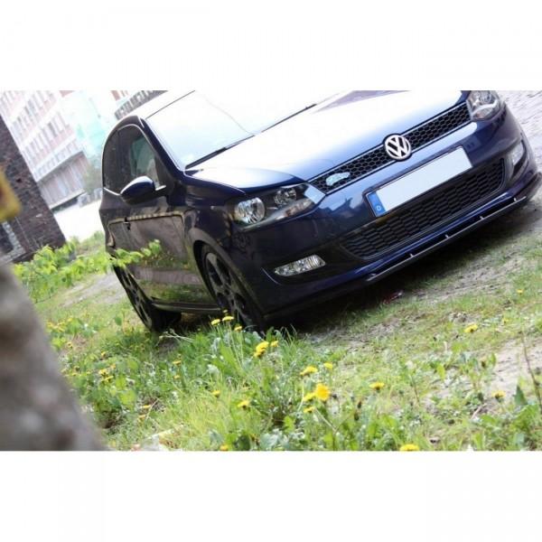 Front Ansatz passend für VW POLO MKV schwarz Hochglanz