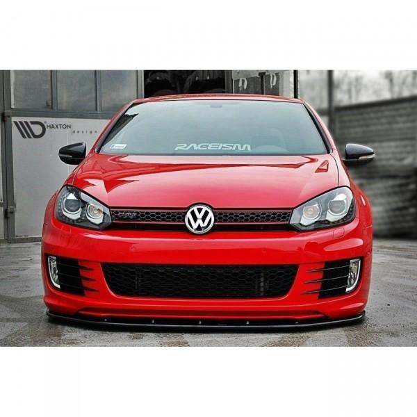 Front Ansatz passend für VER.2 VW GOLF 6 (FÜR GOLF GTI 35TH) Carbon Look
