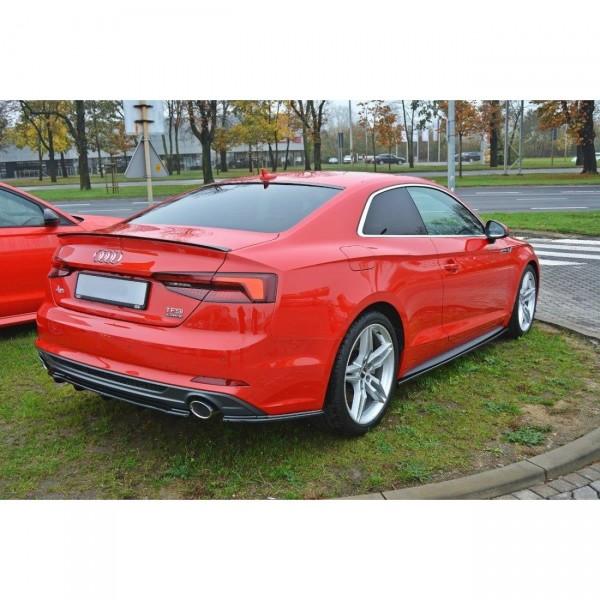 Mittlerer Diffusor Heck Ansatz passend für Audi A5 F5 S-Line DTM LOOK schwarz Hochglanz