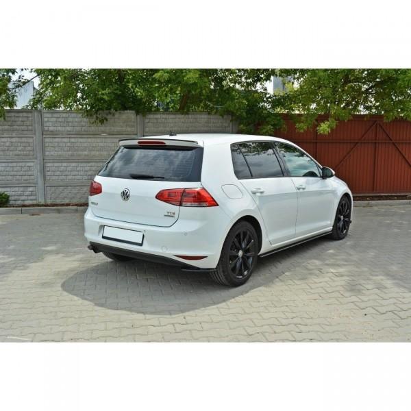Heck Ansatz Flaps Diffusor passend für VW Golf Mk7 Standard schwarz matt
