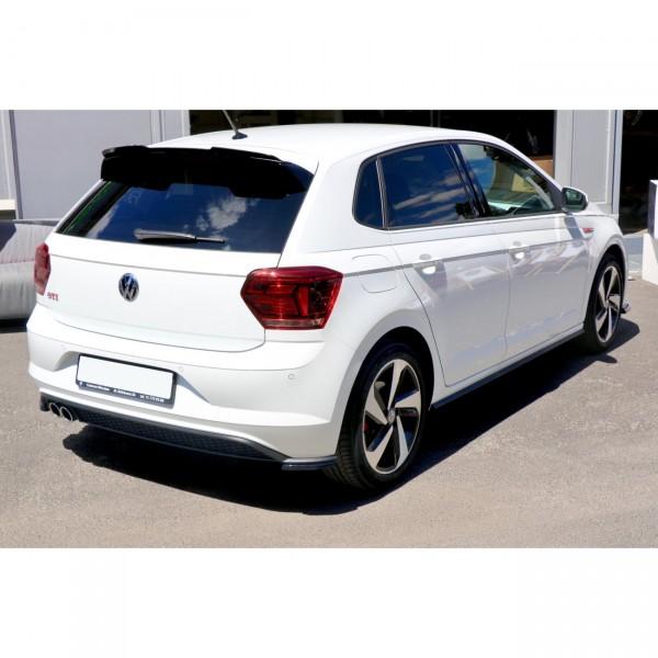 Heck Ansatz Flaps Diffusor passend für VW POLO MK6 GTI Carbon Look