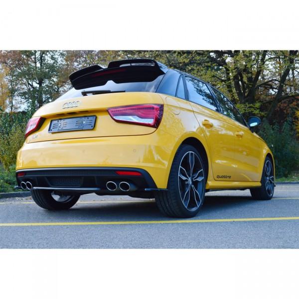 Mittlerer Diffusor Heck Ansatz passend für AUDI S1 MK1 Carbon Look