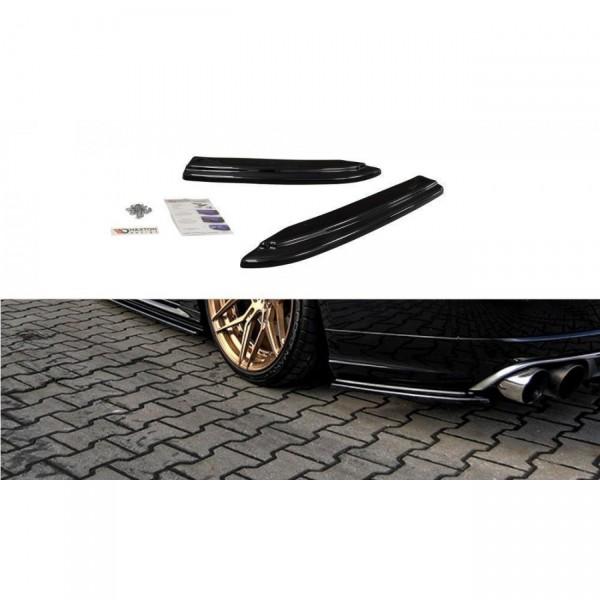 Heck Ansatz Flaps Diffusor passend für AUDI S8 D4 schwarz matt