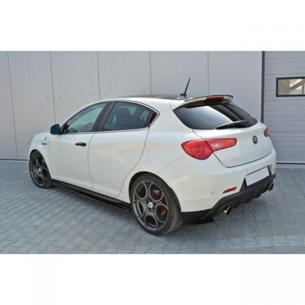 Seitenschweller Ansatz passend für Alfa Romeo Giulietta schwarz Hochglanz