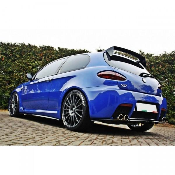 Heck Ansatz Flaps Diffusor passend für ALFA ROMEO 147 GTA Carbon Look
