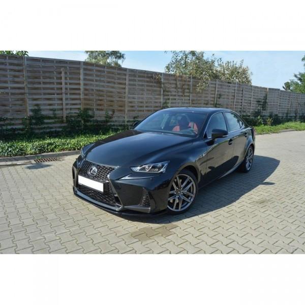 Front Ansatz passend für V.1 Lexus IS Mk3 Facelift F-Sport schwarz matt