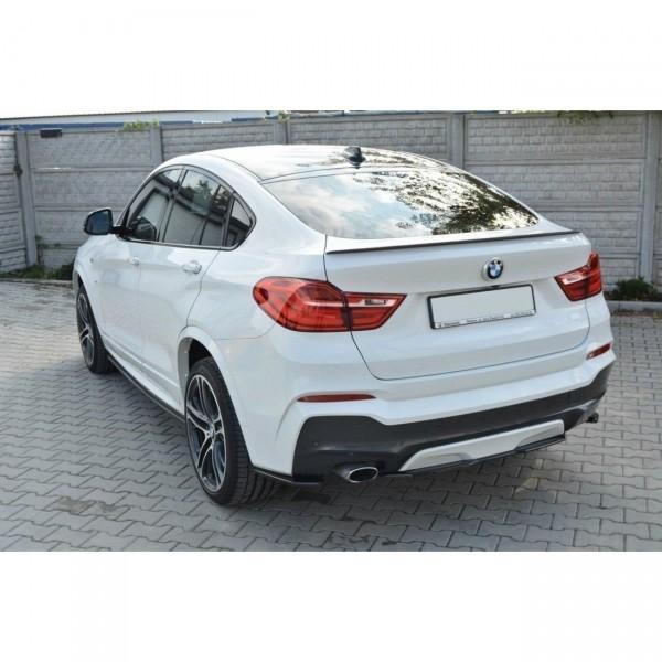 Mittlerer Diffusor Heck Ansatz passend für BMW X4 M Paket schwarz Hochglanz