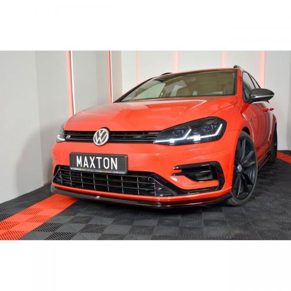 Front Ansatz passend für V.6 VW GOLF 7 R FACELIFT Carbon Look