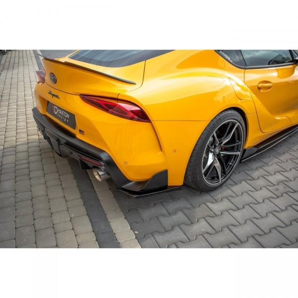 Heck Ansatz Flaps Diffusor passend für V.1 Toyota Supra Mk5 Carbon Look