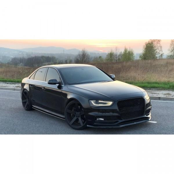 Seitenschweller Ansatz Audi S4 B8 Facelift schwarz matt