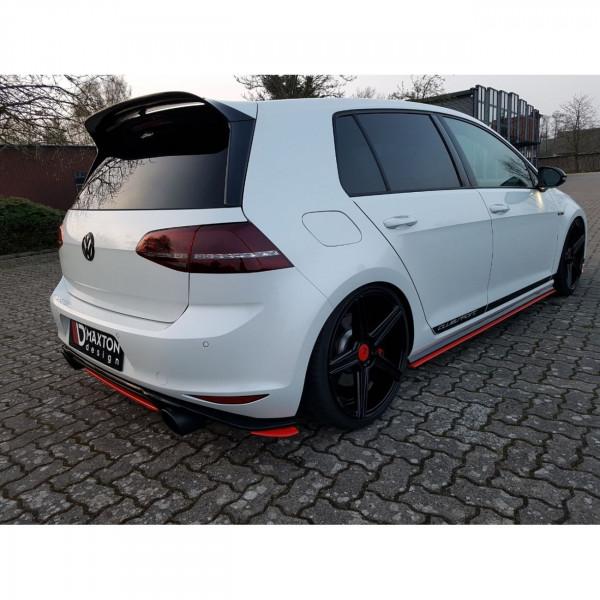 Heck Ansatz Flaps Diffusor passend für VW GOLF Mk7 GTI CLUBSPORT schwarz Hochglanz