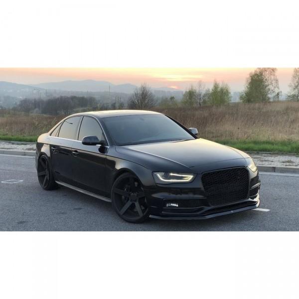 Front Ansatz passend für V.1 Audi S4 B8 Facelift schwarz Hochglanz