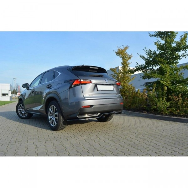 Mittlerer Diffusor Heck Ansatz passend für Lexus NX Mk1 H DTM LOOK schwarz Hochglanz