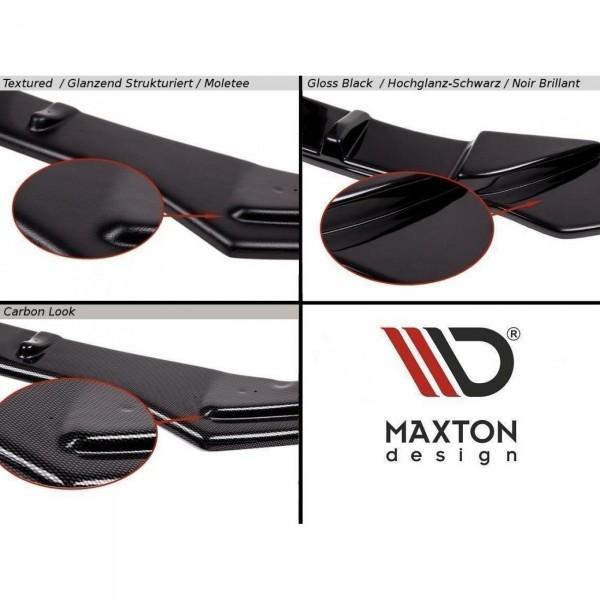 Mittlerer Diffusor Heck Ansatz passend für Audi RS7 Facelift schwarz Hochglanz