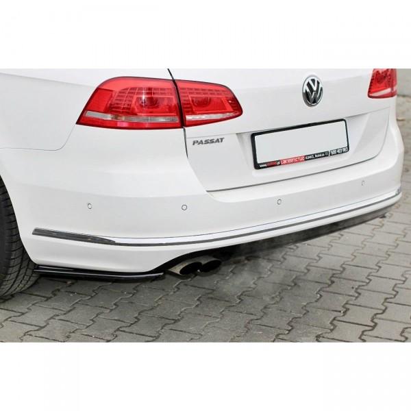 Heck Ansatz Flaps Diffusor passend für Vw Passat B7 R-Line Variant Carbon Look