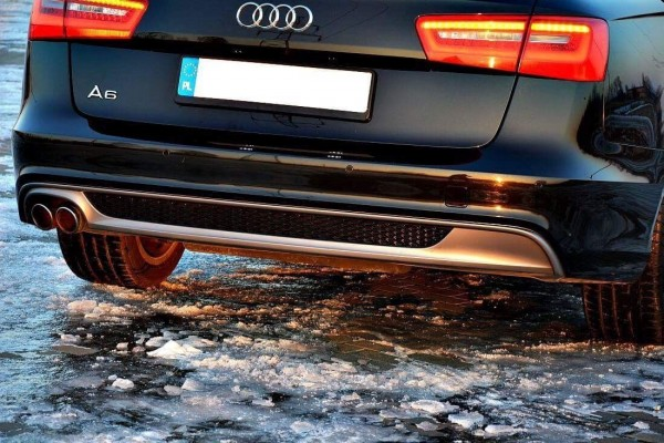 Diffusor für Audi A6 4G Spoiler Heck Ansatz Limousine Avant S-Line Schürze C7 RS