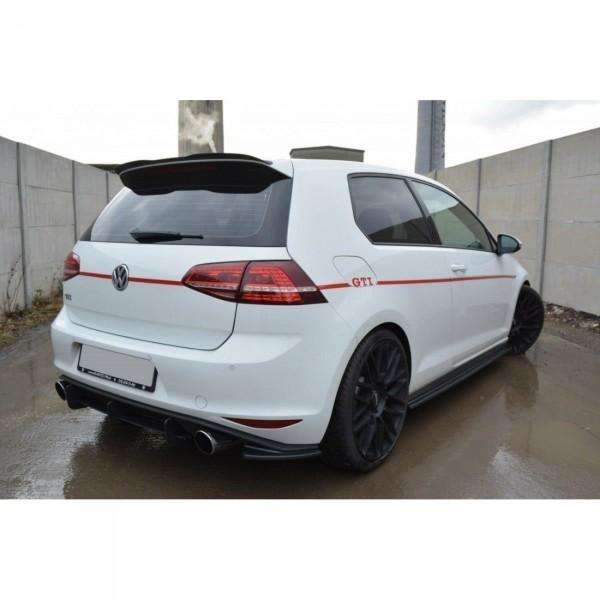 Heck Ansatz Flaps Diffusor passend für VW GOLF 7 GTI Carbon Look