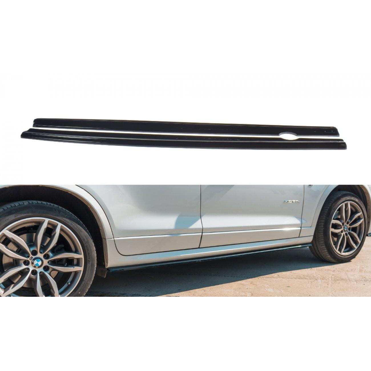 seitenschweller ansatz passend f r bmw x3 f25 m paket facelift carbon look g nstig im online. Black Bedroom Furniture Sets. Home Design Ideas