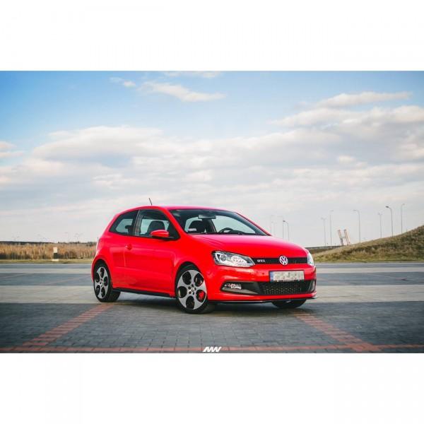 Front Ansatz passend für V.2 VOLKSWAGEN POLO MK5 GTI 6R vor Facelift Carbon Look