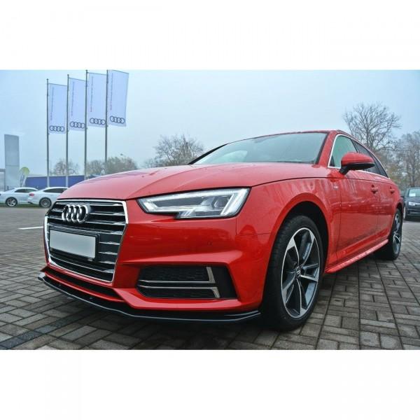 Front Ansatz passend für V.2 Audi A4 B9 S-Line Carbon Look